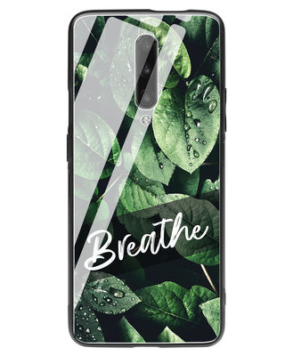 Shop Breathe Green OnePlus 7 Pro Glass Mobile Cover-Front