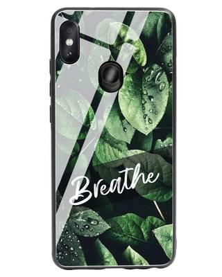 Shop Breathe Green Xiaomi Redmi Note 5 Pro Glass Mobile Cover-Front