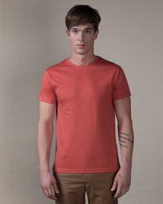 Shop Brick Red Half Sleeve T-Shirt-Front