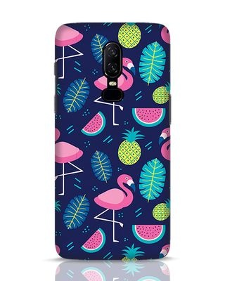 Shop Bright Flamingo OnePlus 6 Mobile Cover-Front