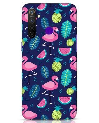 Shop Bright Flamingo Realme 5 Pro Mobile Cover-Front