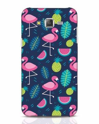 Shop Bright Flamingo Samsung Galaxy J7 Mobile Cover-Front