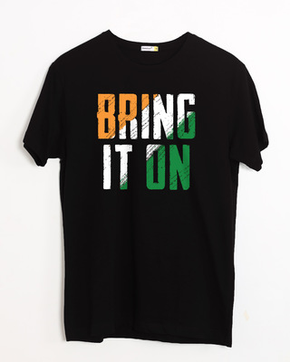 Shop Bring It On Tricolor Half Sleeve T-Shirt-Front