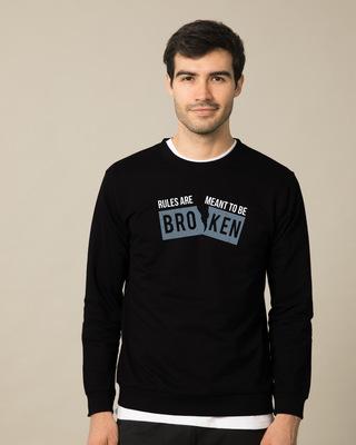 Shop Broken Rules Sweatshirt-Front