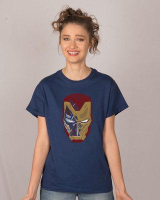 Shop Broken Stark Boyfriend T-Shirt (AVEGL)-Front
