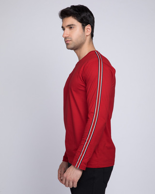 Shop Brooklyn Full Sleeve Side Panel T-Shirt-Front