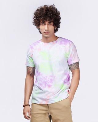Shop Brown Mocha Tie & Dye Seashore Tee-Front