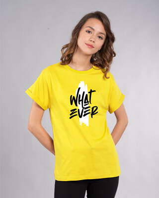 Shop Brush Stroke Whatever Boyfriend T-Shirt-Front
