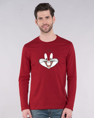 Shop Bugs Bunny Expression Full Sleeve T-Shirt (LTL)-Front
