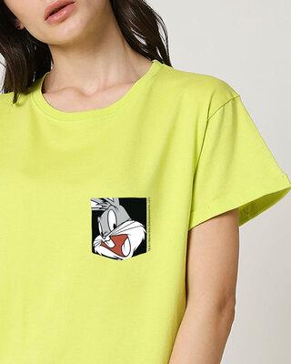 Shop Bugs On A Pocket Boyfriend T-Shirts Neo Mint (LTL) -Front