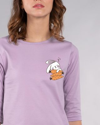 Shop Bunny Carrot Nap Round Neck 3/4th Sleeve T-Shirt-Front