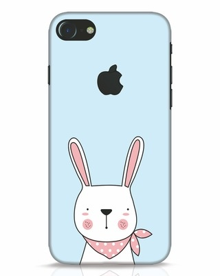 Shop Bunny Peep iPhone 7 Logo Cut Mobile Cover-Front