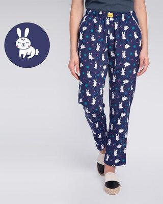 Shop Bunny Rabbit All Over Printed Pyjama-Front