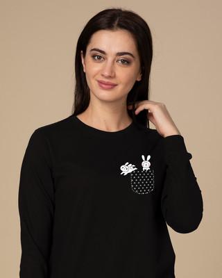 Shop Bunny Rabbit Fleece Sweater-Front