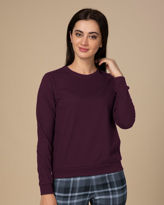 Shop Burgundy Sweatshirt-Front