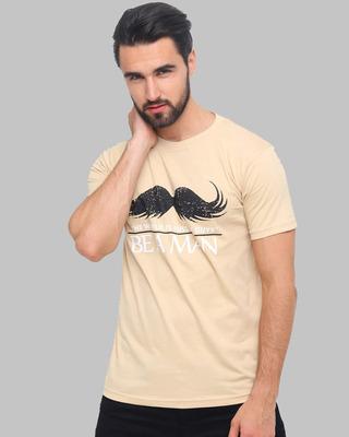 Shop Bushirt Be A Man Printed T-Shirt-Front
