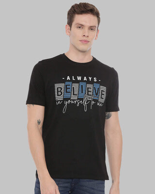 Shop Bushirt Believe Printed T-Shirt-Front