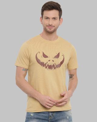 Shop Bushirt Devil Smile Printed T-Shirt-Front