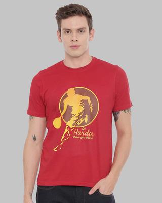 Shop Bushirt Go Harder Printed T-Shirt-Front