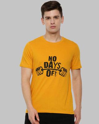Shop Bushirt No Day Off Printed T-Shirt-Front