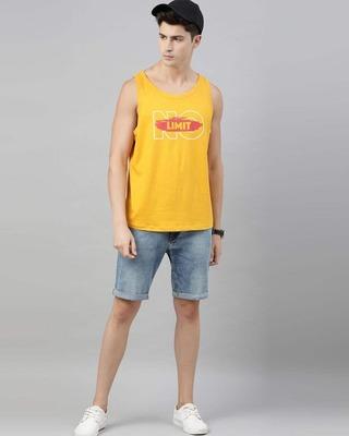 Shop Bushirt No Limit Mustard Vest-Front