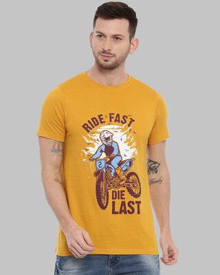 Shop Bushirt Ride Fast Die Last Printed T-Shirt-Front