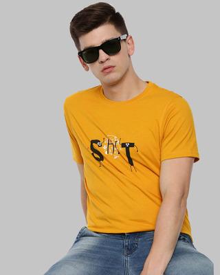 Shop Bushirt Shit Printed T-Shirt-Front