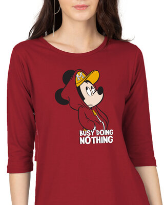 Shop Busy Doin Nothing 3/4th Sleeve T-Shirt (DL)-Front
