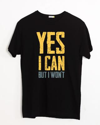 Shop But I Won't Half Sleeve T-Shirt-Front