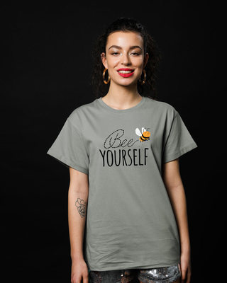Shop Buzzing Bee Yourself Boyfriend T-Shirt-Front