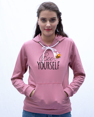 Shop Buzzing Bee Yourself Fleece Hoodie-Front