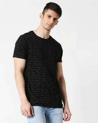 Shop BWKF Line Plain Half Sleeves AOP T-Shirt-Front