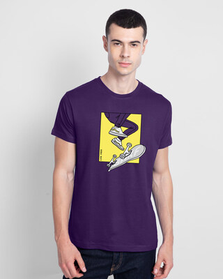 Shop BWKF Skateboard Men's Printed T-Shirts-Front