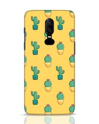Shop Cactus Pattern OnePlus 6 Mobile Cover-Front