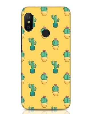 Shop Cactus Pattern Xiaomi Redmi Note 6 Pro Mobile Cover-Front