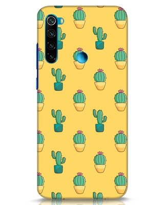 Shop Cactus Pattern Xiaomi Redmi Note 8 Mobile Cover-Front