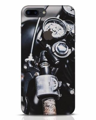Shop Cafe Racer iPhone 7 Plus Logo Cut Mobile Cover-Front