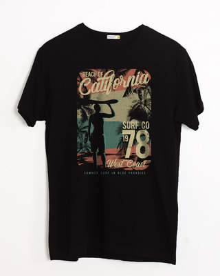 Shop California 78 Half Sleeve T-Shirt-Front