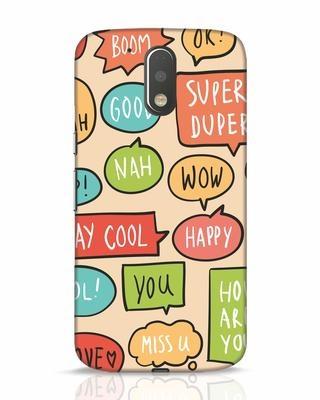 Shop Callouts Moto G4 Plus Mobile Cover-Front