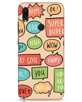 Shop Callouts Xiaomi Redmi Note 7s Mobile Cover-Front