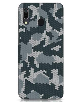 Shop Camo Honey Comb Samsung Galaxy A30 Mobile Cover-Front