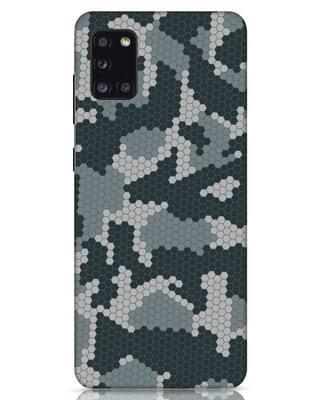 Shop Camo Honey Comb Samsung Galaxy A31 Mobile Cover-Front