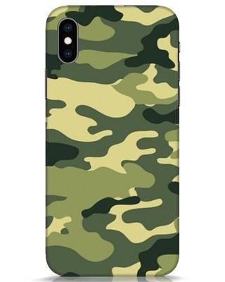 Shop Camouflage iPhone XS Mobile Cover-Front