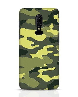 Shop Camouflage OnePlus 6 Mobile Cover-Front