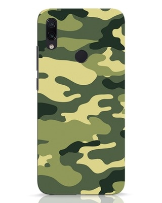 Shop Camouflage Xiaomi Redmi Note 7 Pro Mobile Cover-Front