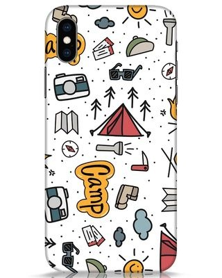 Shop Camp iPhone XS Mobile Cover-Front
