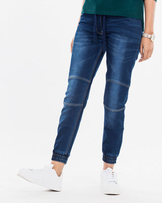 Shop Camper Blue Denim Joggers-Front
