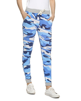 Shop Campus Sutra Camouflage Track Pants-Front