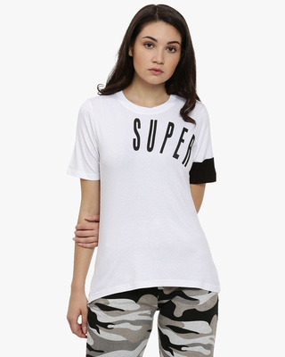 Shop Campus Sutra Casual Half Sleeve Printed Stylish Casual Top-Front