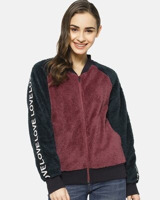 Shop Campus Sutra Full Sleeve Women Solid Casual Jacket-Front